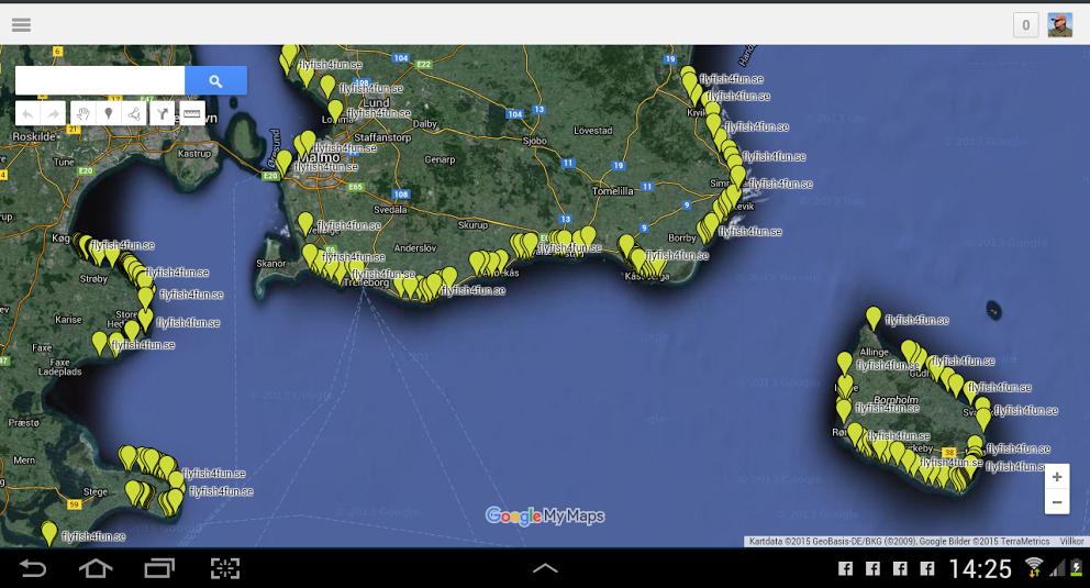 Karta Skane Och Danmark.Hotspots For Nyborjare Fly Fish 4 Fun